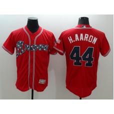 2016 MLB FLEXBASE Atlanta Braves 44 H,Aaron Red Jersey