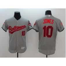 2016 MLB FLEXBASE Baltimore Orioles 10 Adam Jones Grey Fashion Jerseys