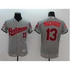2016 MLB FLEXBASE Baltimore Orioles 13 Manny Machado Grey Fashion Jerseys