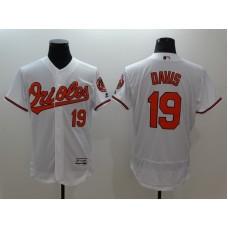 2016 MLB FLEXBASE Baltimore Orioles 19 Davis white jerseys