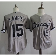 2016 MLB FLEXBASE Chicago White Sox 15 Lawrie Grey Elite Jerseys