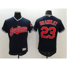 2016 MLB FLEXBASE Cleveland Indians 23 Brantley Blue Jerseys