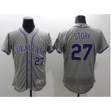 2016 MLB FLEXBASE Colorado Rockies 27 Story grey jerseys