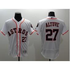 2016 MLB FLEXBASE Houston Astros 27 Altuve white jerseys