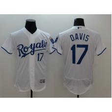 2016 MLB FLEXBASE Kansas City Royals 17 Davis White Jersey