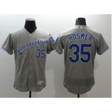 2016 MLB FLEXBASE Kansas City Royals 35 Eric Hosmer Grey Jerseys
