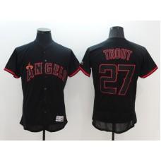 2016 MLB FLEXBASE Los Angeles Angels 27 Trout black Jerseys