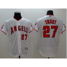 2016 MLB FLEXBASE Los Angeles Angels 27 Trout white jerseys