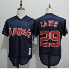 2016 MLB FLEXBASE Los Angeles Angels 29 Rod Carew Blue Throwback Elite Jerseys