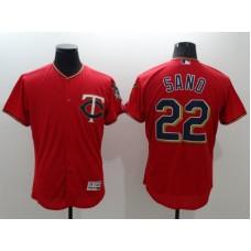2016 MLB FLEXBASE Minnesota Twins 22 Sano red jerseys