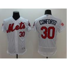 2016 MLB FLEXBASE New York Mets 30 Conforto White Fashion Jerseys