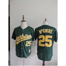 2016 MLB FLEXBASE Oakland Athletics 25 Mcgwire Green Jerseys
