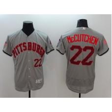 2016 MLB FLEXBASE Pittsburgh Pirates 22 Mccutchen Grey Fashion Jerseys