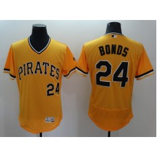 2016 MLB FLEXBASE Pittsburgh Pirates 24 Bonds Orange Jersey
