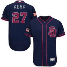 2016 MLB FLEXBASE San Diego Padres 27 matt kemp Blue Fashion Jerseys