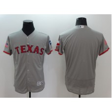 2016 MLB FLEXBASE Texas Rangers Blank Grey Fashion Jerseys