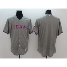 2016 MLB FLEXBASE Texas Rangers Blank Grey Jersey