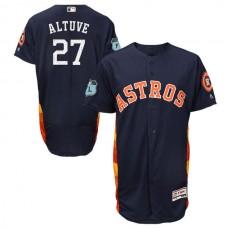 2017 MLB Houston Astros 27 Altuve Blue Jerseys