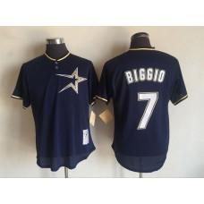 2017 MLB Houston Astros 7 Craig Biggio Blue Throwback Jerseys
