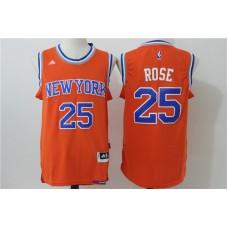 2016 NBA New York Knicks 25 Rose Orange Jerseys