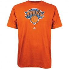 2016 NBA adidas New York Knicks Primary Logo T-Shirt - Royal Blue