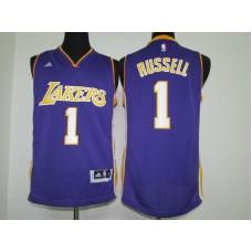 2016 NBA los Angeles Lakers 1 Russell purple jerseys