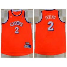2017 NBA Cleveland Cavaliers 2 Kyrie Irving Orange Throwback Jerseys
