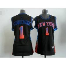 2017 Women NBA New York Knicks 1 Stoudemire black jerseys