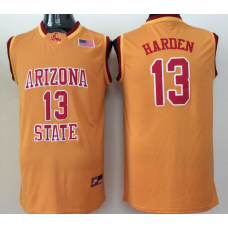 2016 NBA NCAA Arizona State Sun Devils 13 Harden Yellow Jerseys