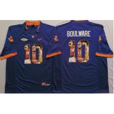 2016 NCAA Clemson Tigers 10 Boulware Purple Fashion Edition Jerseys