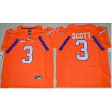 2016 NCAA Clemson Tigers 3 Artavis Scott Orange College Football Limited Jersey
