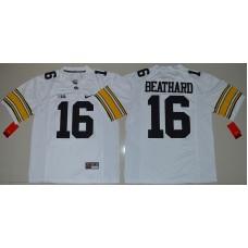 2016 NCAA Iowa Hawkeyes 16 C.J Beathard White College Football Limited Jersey
