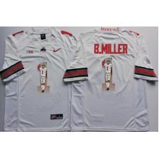 2016 NCAA Ohio State Buckeyes 1 B.Miller White Fashion Edition Jerseys2