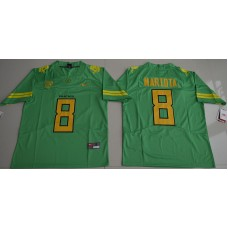 2016 NCAA Oregon Duck 8 Marcus Mariota Apple Green College Football Limited Jerseys