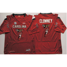2016 NCAA South Carolina Gamecock 7 Clowney Red Fashion Edition Jerseys