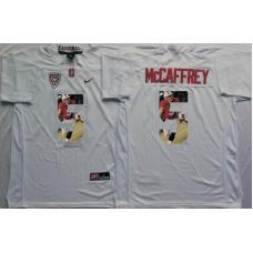 2016 NCAA Stanford Cardinals 5 Mccaffrey White Fashion Edition Jerseys