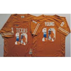 2016 NCAA Texas Longhorns 10 Young Yellow Fashion Edition Jerseys