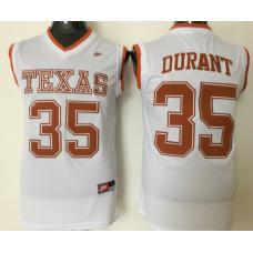 2016 NCAA Texas Longhorns 35 Durant White Jerseys