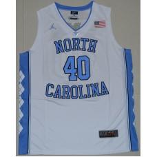 2016 North Carolina Tar Heels Harrison Barnes 40 College Basketball Jersey - White