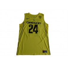 2017 Oregon Ducks Dillon Brooks 24 College Basketball Jersey - Yellow
