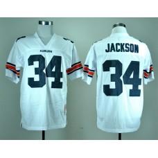 NCAA Auburn Tigers 34 Bo Jackson White College Football Throwback Jersey