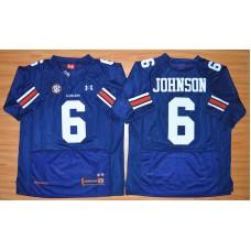 NCAA Auburn Tigers 6 Jeremy Johnson Navy Blue Football Jersey
