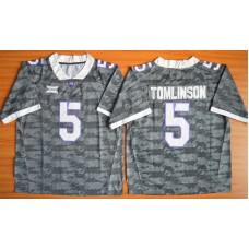 NCAA TCU Horned Frogs 5 LaDainian Tomlinson grey 2015 Football Jersey.