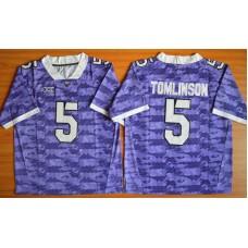 NCAA TCU Horned Frogs 5 LaDainian Tomlinson purple 2015 Football Jersey.