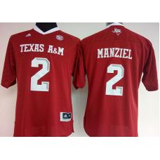 Womens 2016 NCAA Texas A&M Aggies 2 Manziel Red Jerseys