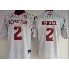 Womens 2016 NCAA Texas A&M Aggies 2 Manziel White Jerseys