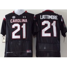 Youth 2016 NCAA South Carolina Gamecock 21 Lattimore Black Jerseys