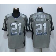 2016 Dallas cowboys 21 Elliott Drift Fashion Grey NEW Nike Elite Jerseys
