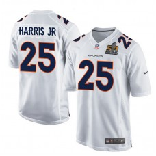 2016 Denver Broncos 25 Harris Jr White youth jerseys