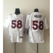 2016 Denver Broncos 58 Miller White Nike Elite Jersey
